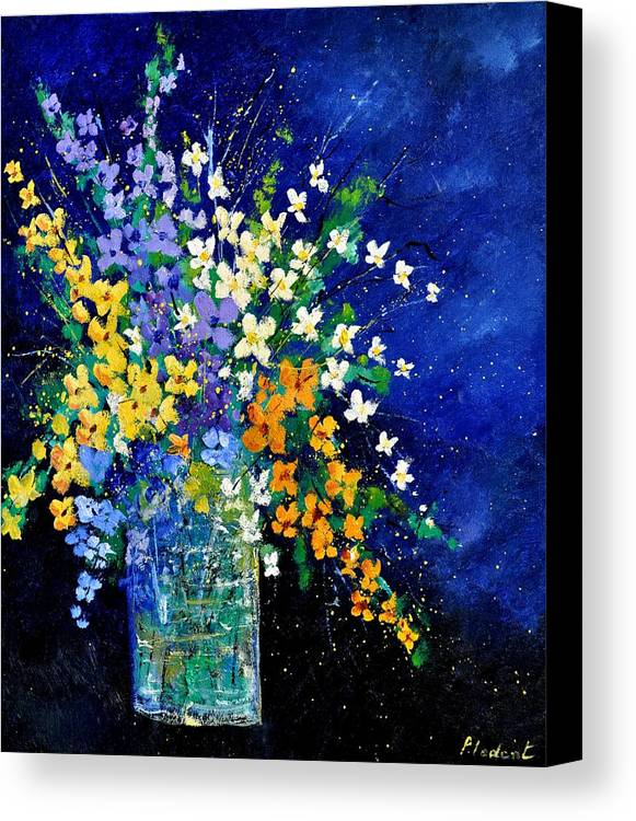 Flowers Canvas Print featuring the painting Bunch 0140 by Pol Ledent