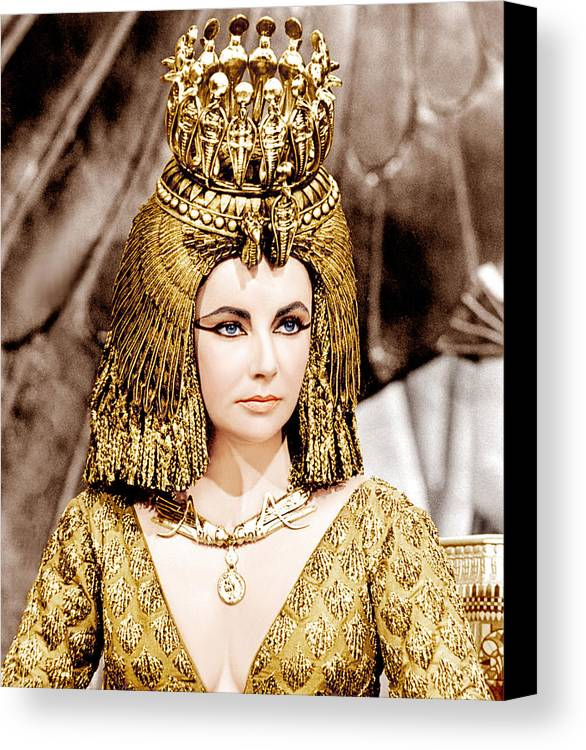 1960s Portraits Canvas Print featuring the photograph Cleopatra, Elizabeth Taylor, 1963 by Everett