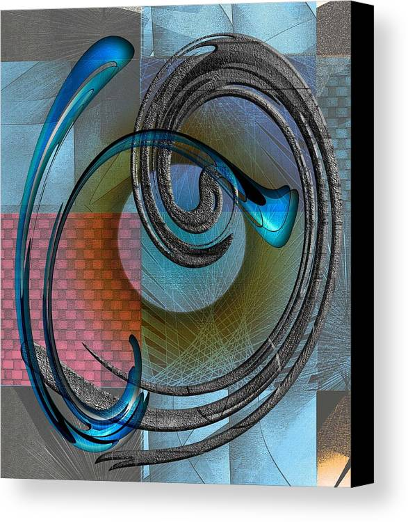 Abstract Canvas Print featuring the digital art Patches by Iris Gelbart