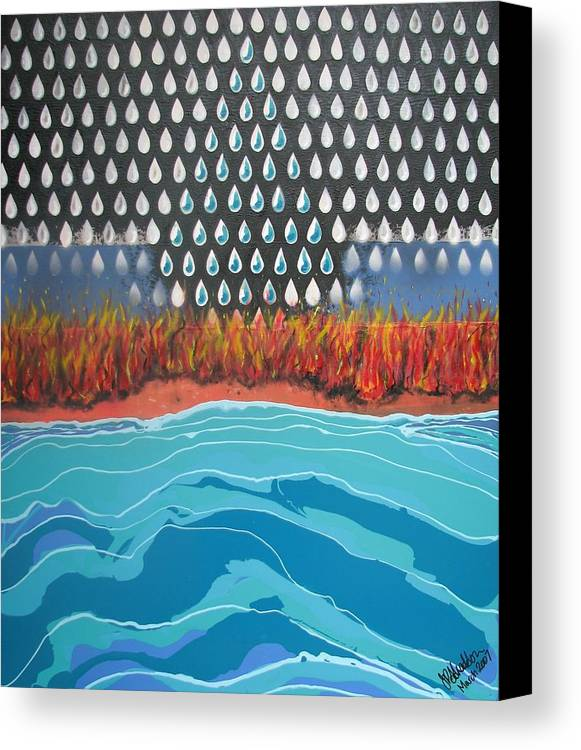 Sea Canvas Print featuring the painting 40 Years Reconciliation by Joan Stratton
