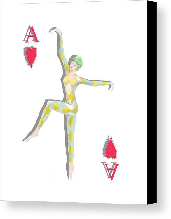 Dancer Canvas Print featuring the digital art Ace Dancer by Tom Conway