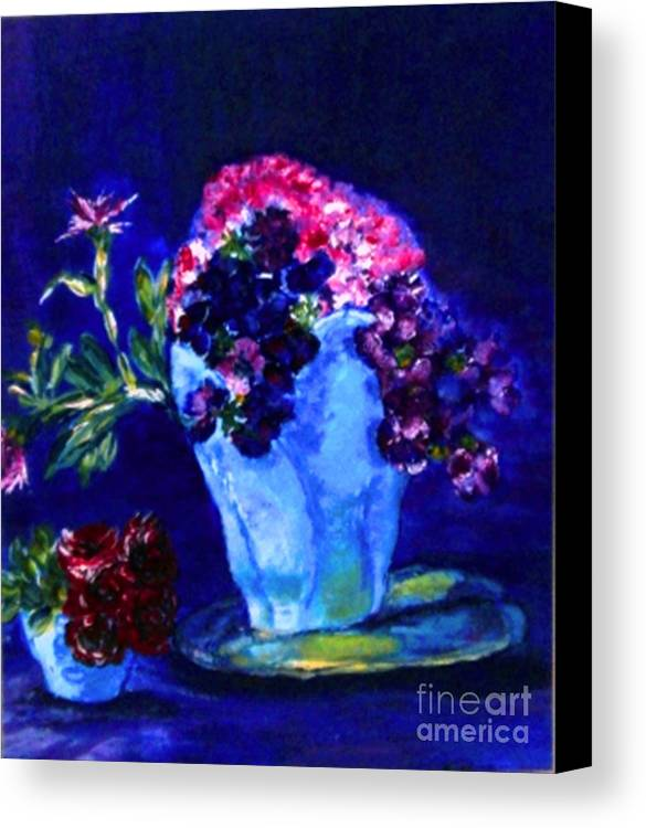 Flowers Canvas Print featuring the painting Admire by Helena Bebirian