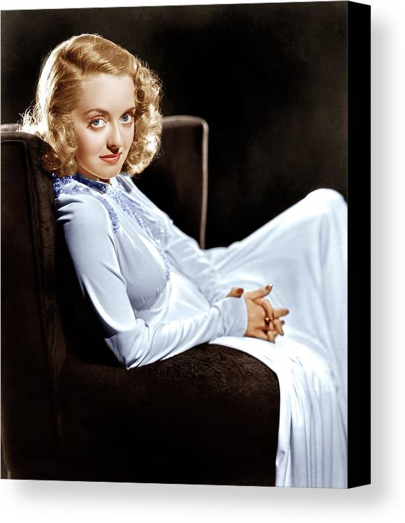 1930s Portraits Canvas Print featuring the photograph Bette Davis, Ca. Late 1930s by Everett