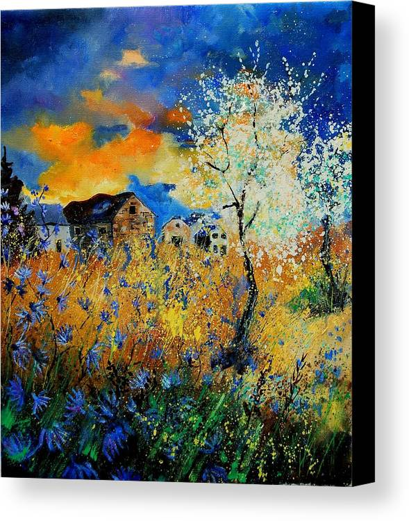 Poppies Canvas Print featuring the painting Blooming Trees by Pol Ledent