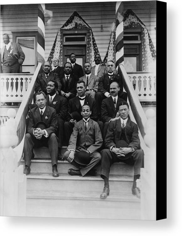 History Canvas Print featuring the photograph Booker T. Washington 1856-1915, Second by Everett