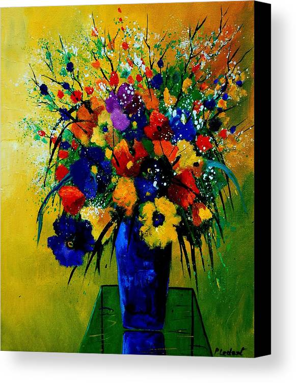 Poppies Canvas Print featuring the painting Bunch 0508 by Pol Ledent