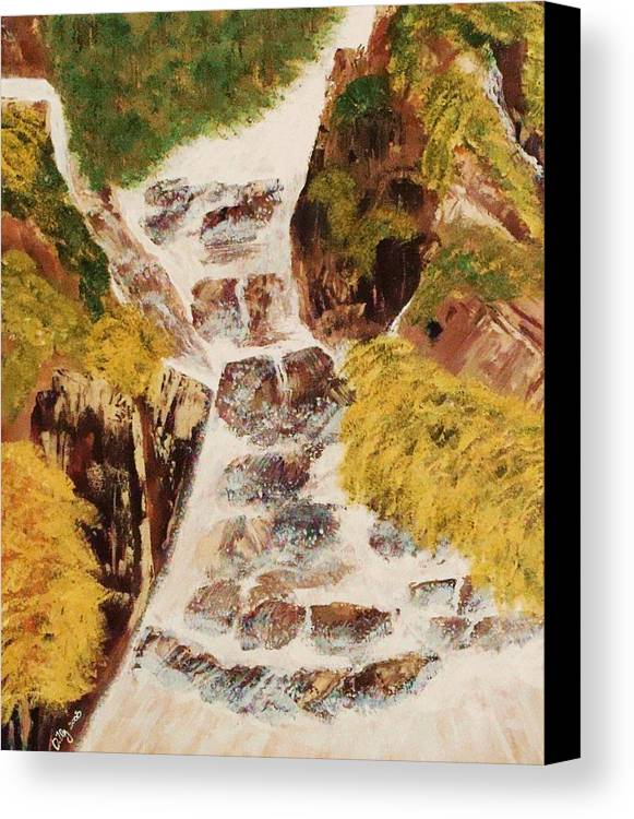 Waterfalls Canvas Print featuring the painting Camping by Ofelia Uz