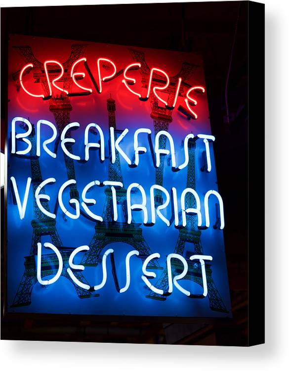 Canvas Print featuring the photograph Creperie by Ronald Watkins