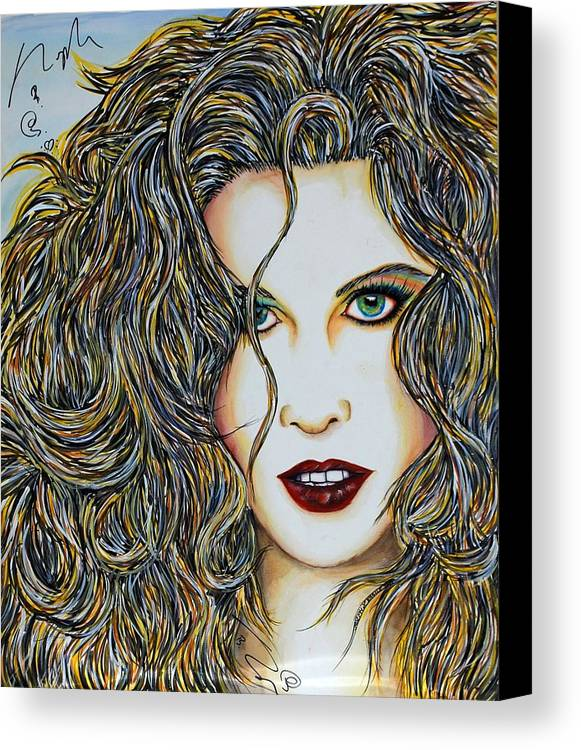Actress Canvas Print featuring the mixed media Dam...lay Me Down by Joseph Lawrence Vasile