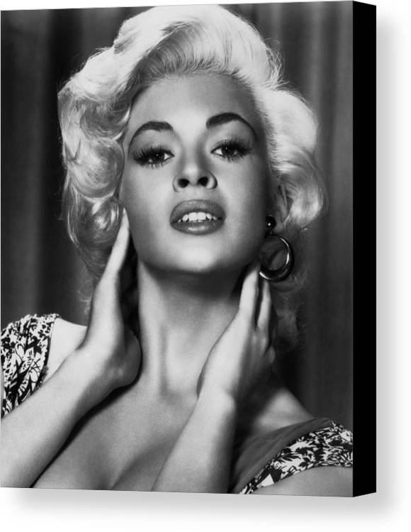 1950s Portraits Canvas Print featuring the photograph Jayne Mansfield, Ca. 1950s by Everett