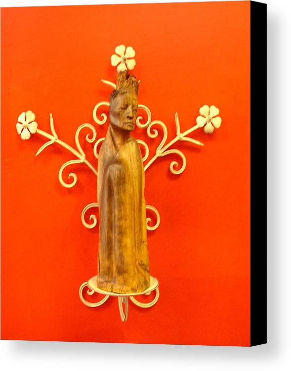 Figure Canvas Print featuring the sculpture King by Victor Amor