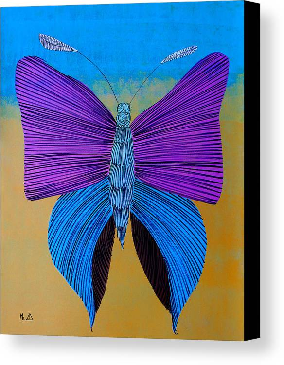 Butterfly Canvas Print featuring the painting Lib - 148 by Artist Singh