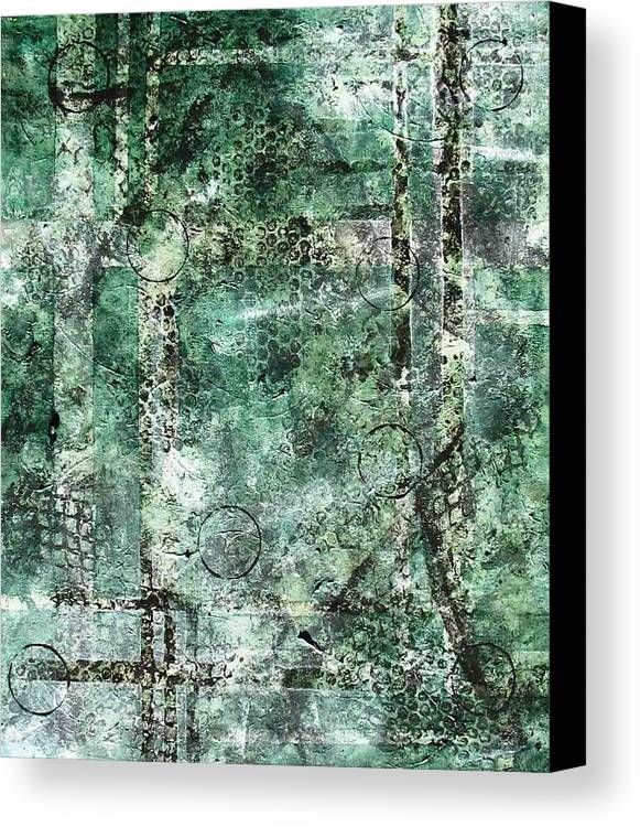 Abstract Canvas Print featuring the painting Lines Of Communication by Sophia Elise