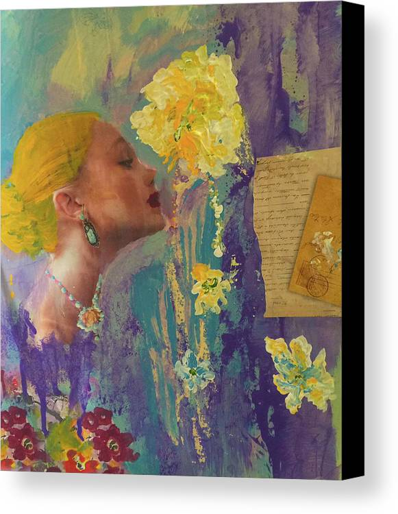 Love Canvas Print featuring the painting Love Letters by Angela Holmes