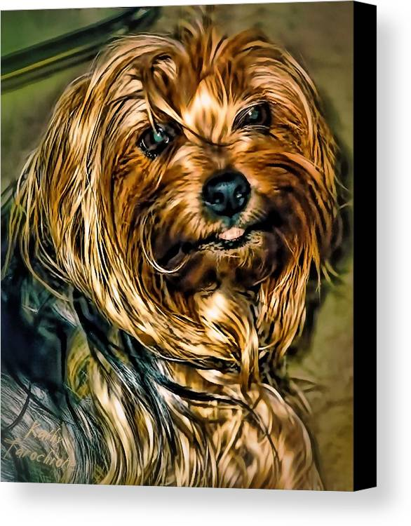 Maggie Canvas Print featuring the photograph Maggie Smiles by Kathy Tarochione