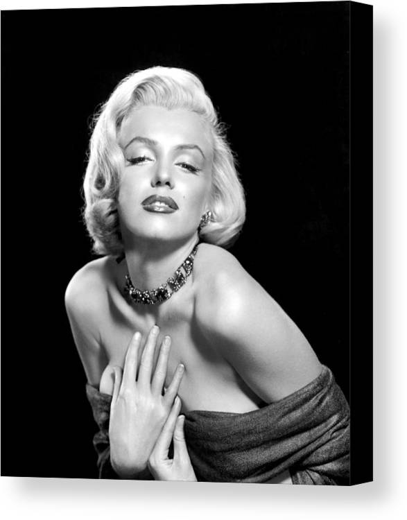 1950s Portraits Canvas Print featuring the photograph Marilyn Monroe by Everett