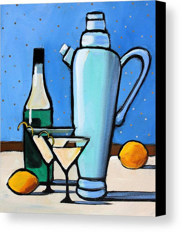 Grote Canvas Strandtas : Martini night canvas print art by toni grote