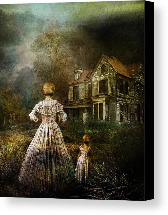 Ghostly Canvas Print featuring the digital art Memories by Mary Hood