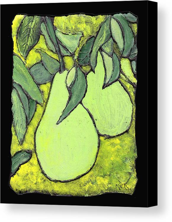 Pears Canvas Print featuring the painting Michigan Pears by Wayne Potrafka