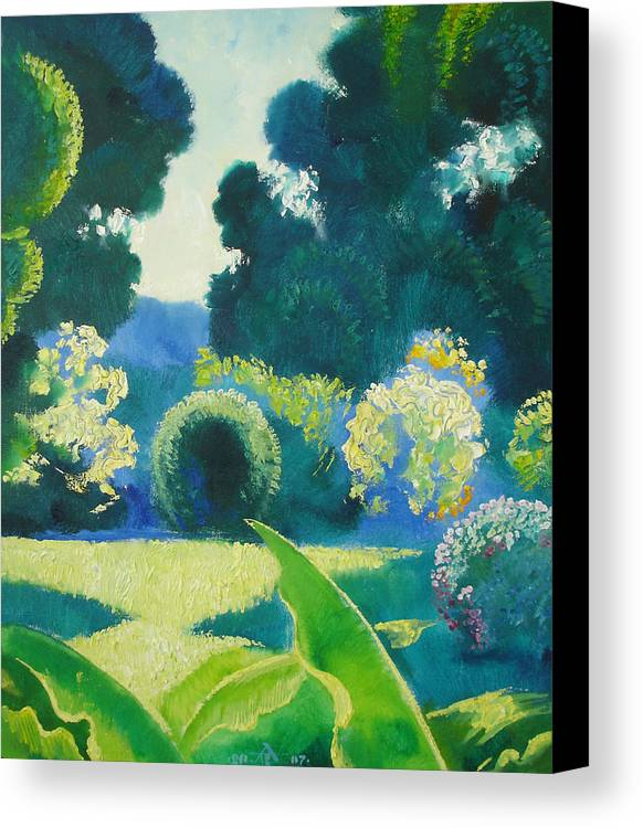 Landscape Canvas Print featuring the painting Noon by Andrej Vystropov