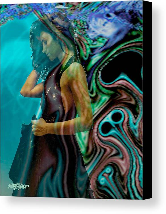 Beautiful Women Canvas Print featuring the digital art Spell Of A Woman by Seth Weaver