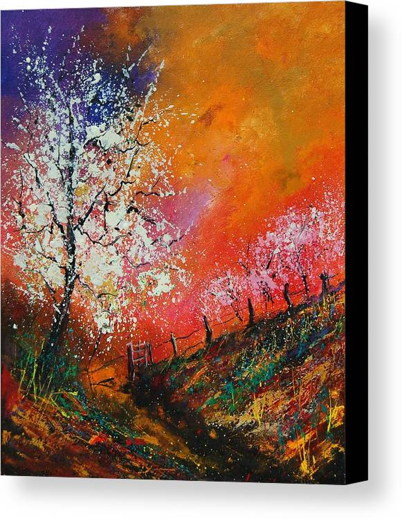 Spring Canvas Print featuring the painting Spring Today by Pol Ledent
