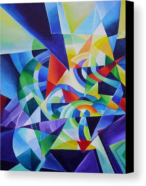 Spring Antonio Vivaldi Acrylic Abstract Music Four Seasons Canvas Print featuring the painting Spring by Wolfgang Schweizer