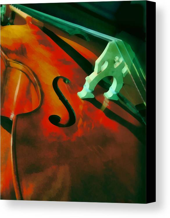 Bass Canvas Print featuring the painting Strings by Naman Imagery