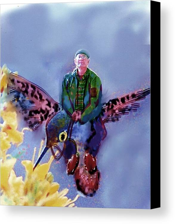 Canvas Print featuring the digital art The Artist Can Do Anything by Dave Kwinter