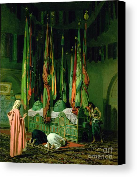 The Canvas Print featuring the painting The Shrine Of Imam Hussein by Jean Leon Gerome