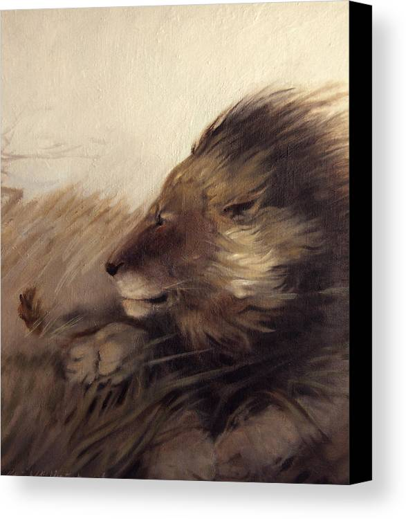 Animal Canvas Print featuring the painting Wind by Patrick McClintock