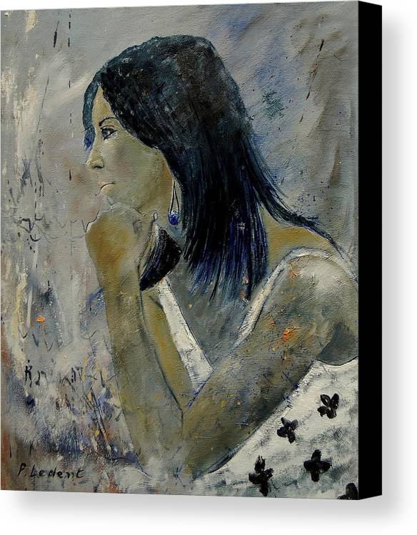 Girl Canvas Print featuring the painting Young Girl Eg569090 by Pol Ledent