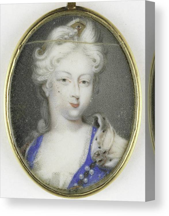 Portrait Canvas Print featuring the drawing Portrait Of A Woman, Presumably Christiane Charlotte by Litz Collection