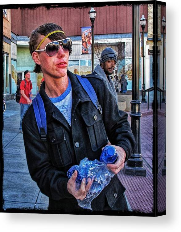 Homeless Canvas Print featuring the photograph Rare Breed #3 by John Derby
