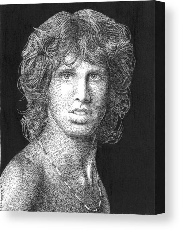 The Doors Canvas Print featuring the drawing The Lizard King by Timothy Glasby