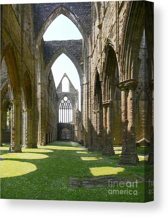 Tintern Abbey Canvas Print featuring the photograph Tintern Abbey Nave by John Chatterley