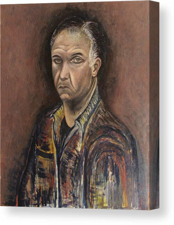 Portrait Canvas Print featuring the painting Portrait Of A Man by Vladimir Kezerashvili
