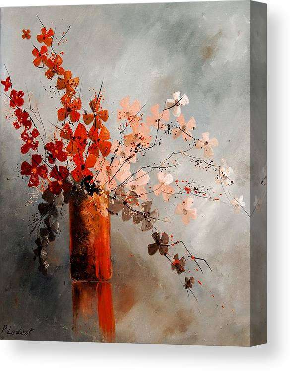 Flowers Canvas Print featuring the painting Bunch 670908 by Pol Ledent