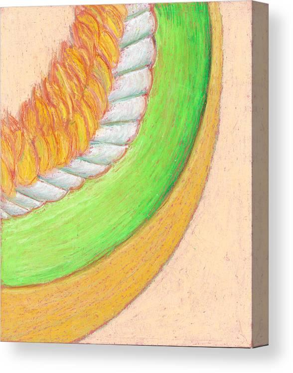 Honeydew Canvas Print featuring the pastel Honeydew by Dawn Marie Black