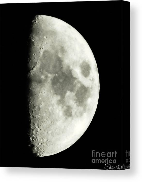 Lunar Canvas Print featuring the photograph Man In The Moon by September Stone
