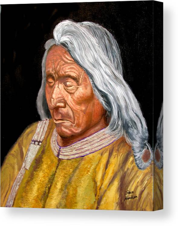 Red Cloud Canvas Print featuring the painting Red Cloud by Stan Hamilton
