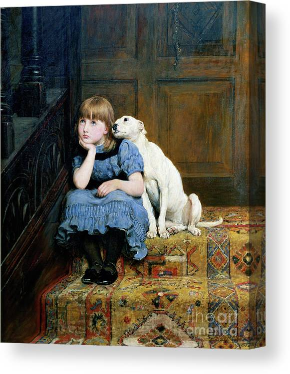 Sympathy Canvas Print featuring the painting Sympathy by Briton Riviere