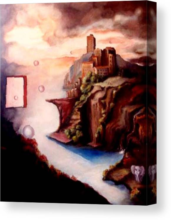 Surreal Canvas Print featuring the painting The Window by Jordana Sands