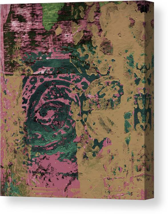 Abstract Canvas Print featuring the painting Watching by Wayne Potrafka