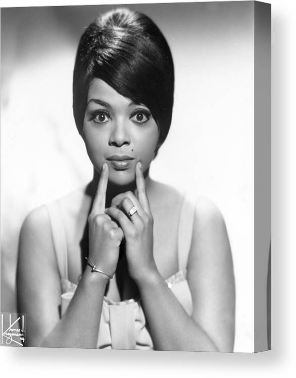Soul Music Canvas Print featuring the photograph Portrait Of Tammi Terrell by Michael Ochs Archives