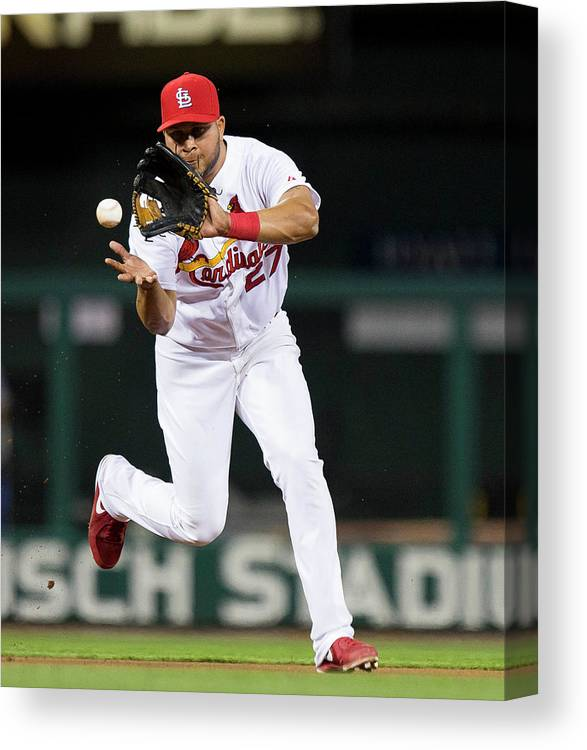 St. Louis Cardinals Canvas Print featuring the photograph Jhonny Peralta by David Welker