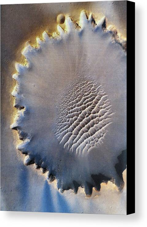 Crater Canvas Print featuring the digital art Victoria Crater by Patricia Januszkiewicz