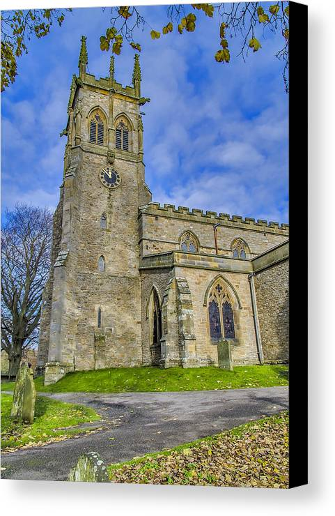 Church Canvas Print featuring the photograph St Andrews Aysgarth by Trevor Kersley