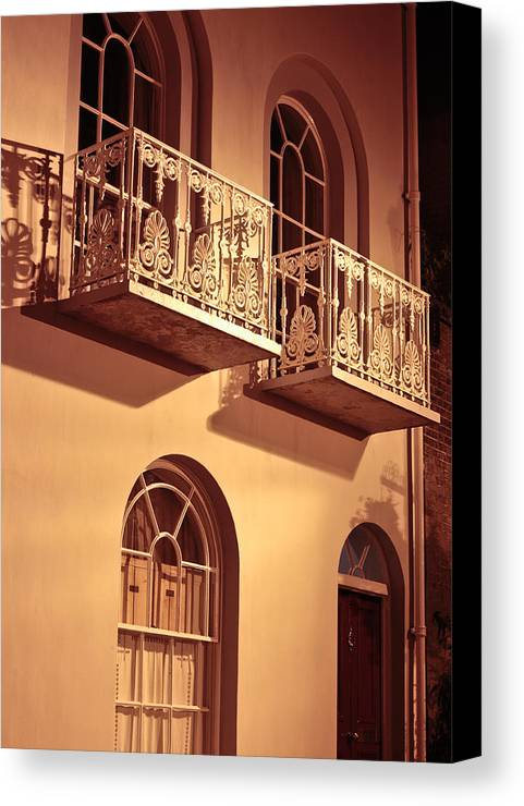 Apartment Canvas Print featuring the photograph Balconies by Tom Gowanlock