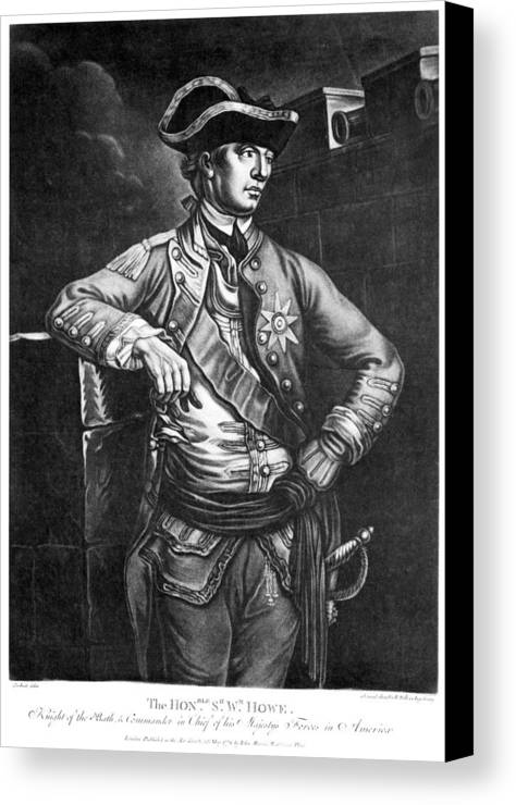1778 Canvas Print featuring the photograph William Howe (1729-1814) by Granger